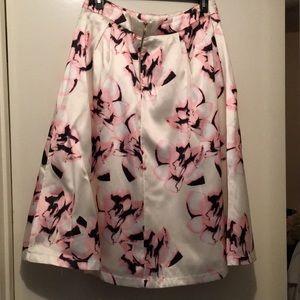 Pink black and white agaci midi skirt